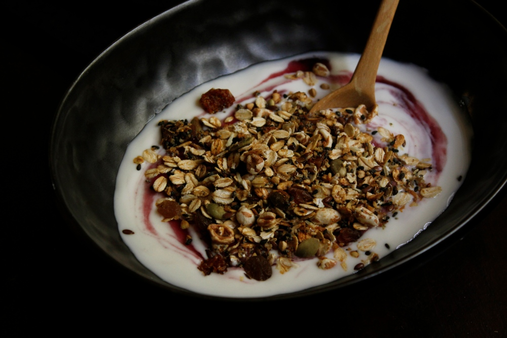 Garam Masala spiced stove-top granola with grated coconut