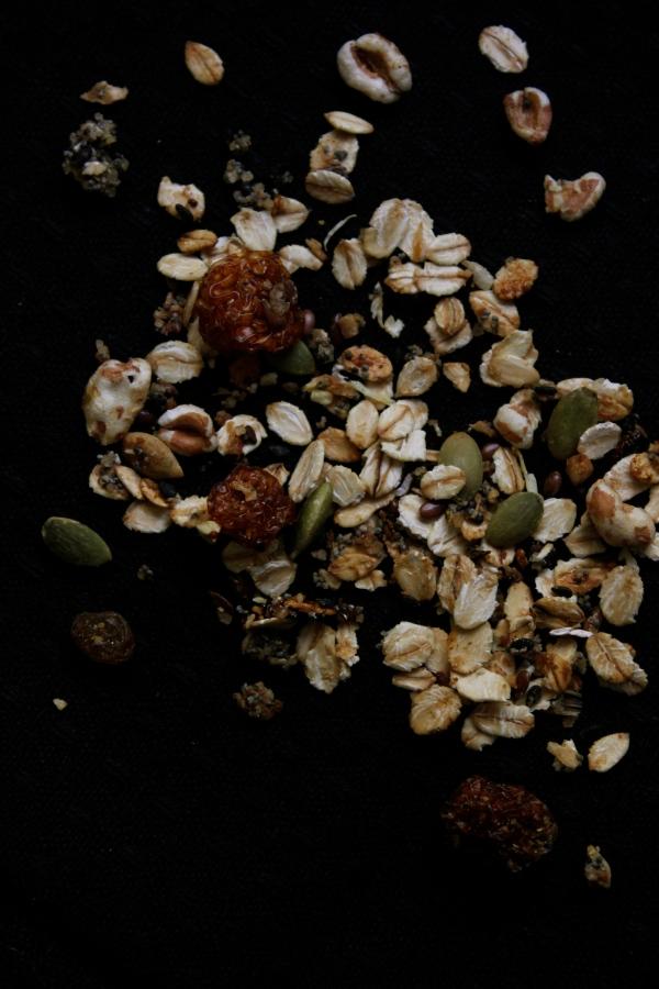 Garam Masala spiced stove-top granola with coconut.