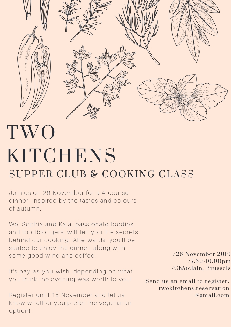 Two Kitchens Invitation